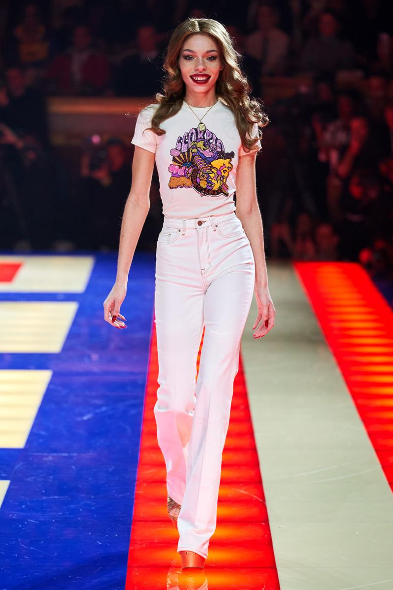 Tommy Hilfiger TommyNow Zendaya Spring 2019 Paris Fashion Week Show Collection Zodiac Shirt Pants White