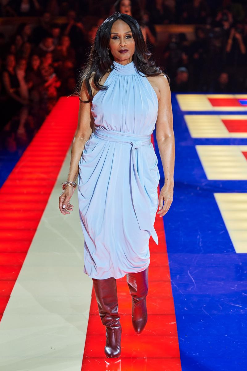 Tommy Hilfiger TommyNow Zendaya Spring 2019 Paris Fashion Week Show Collection Beverly Johnson Dress Blue