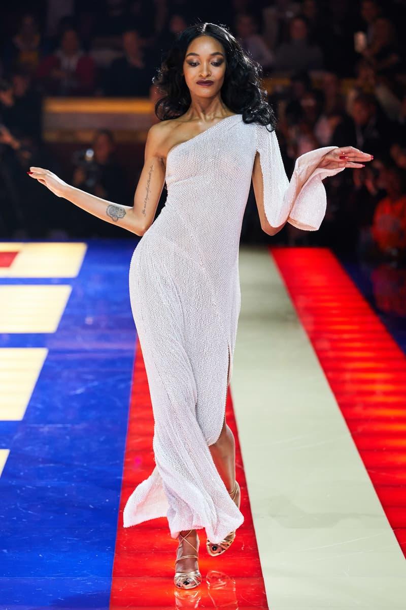 Tommy Hilfiger TommyNow Zendaya Spring 2019 Paris Fashion Week Show Collection Jourdan Dunn Gown Silver