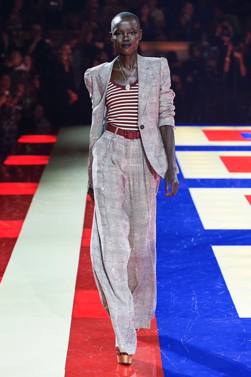 Tommy Hilfiger TommyNow Zendaya Spring 2019 Paris Fashion Week Show Collection Grace Bol Suit Grey