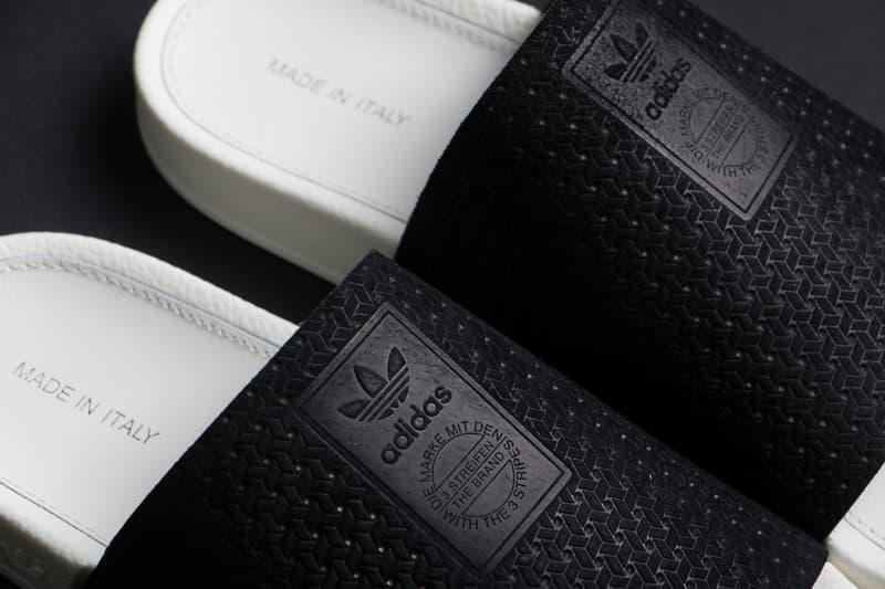 5b242466e adidas Originals Adilette Luxe Slides Core Black