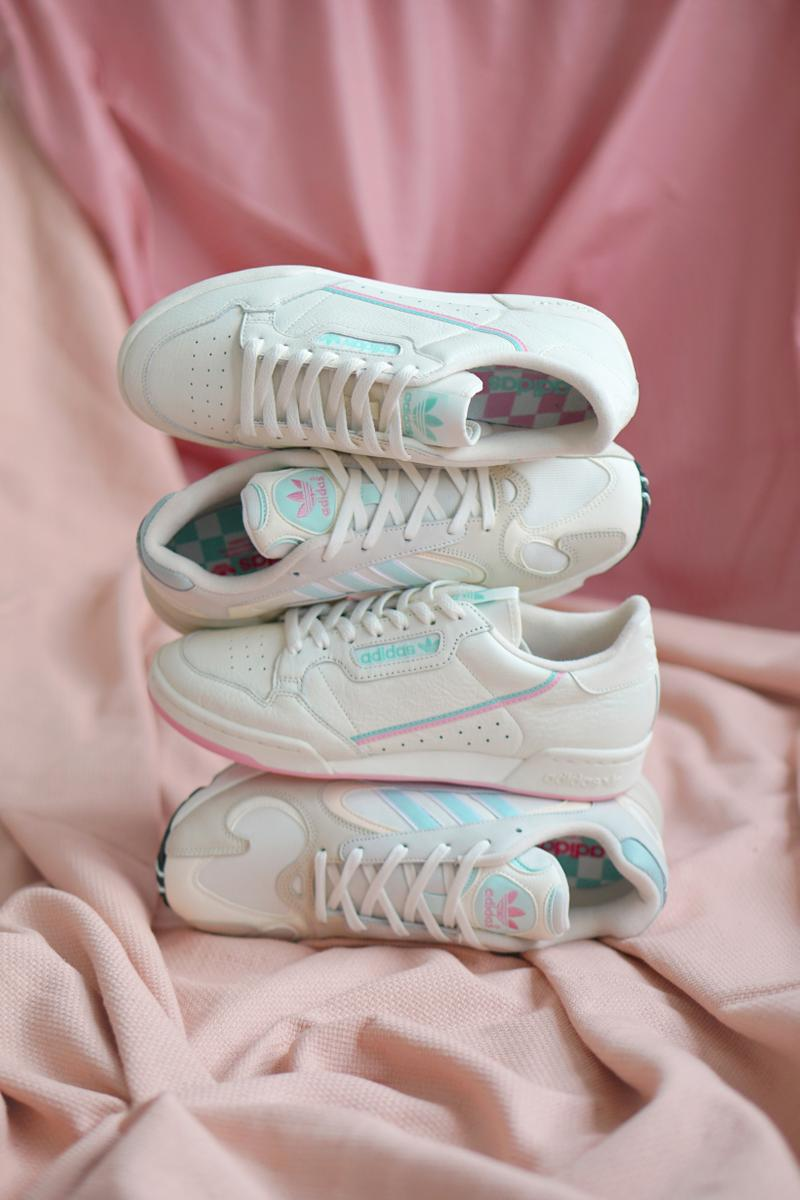 2f819b22cfd adidas Originals Yung-1 Off White Ice Mint Continental 80 True Pink