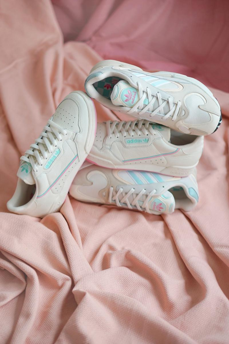 adidas Originals Yung-1 Off White Ice Mint Continental 80 True Pink