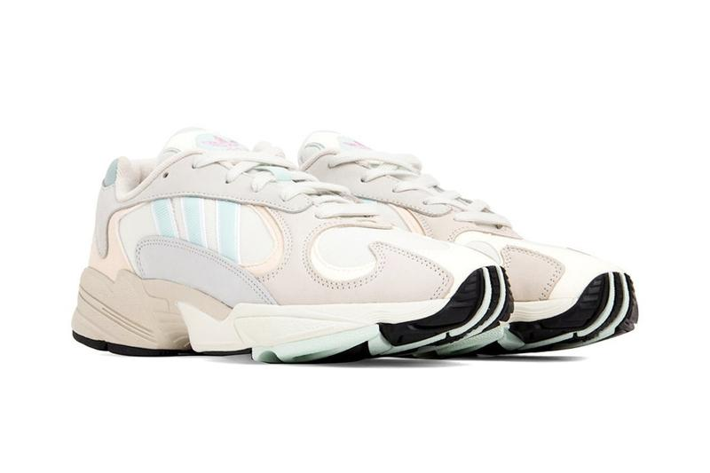 "adidas Orignals Yung-1 in ""Off-White/Ice Mint"" Chunky Shoe Spring Sneaker Creme Grey Blue Trainer"
