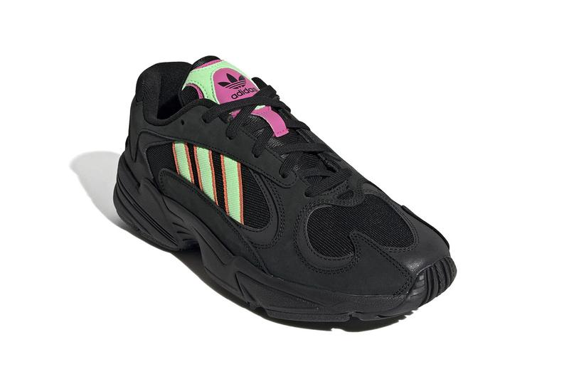 "adidas Yung-1 in ""Black/Neon Green/Pink"" Chunky Sneaker Neon Trend Shoe Black Spring Summer"