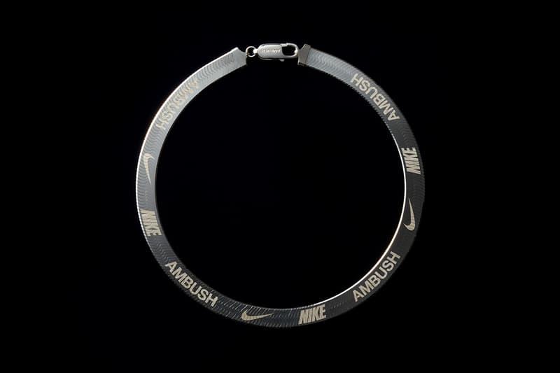 AMBUSH x Nike Herringbone Necklace White Gold Silver