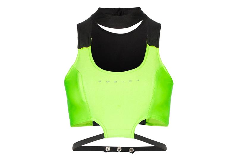 Ambush Waves Lycra Crop Top Neon Green Logo Black Yoon Ahn Verbal Spring Summer 2019