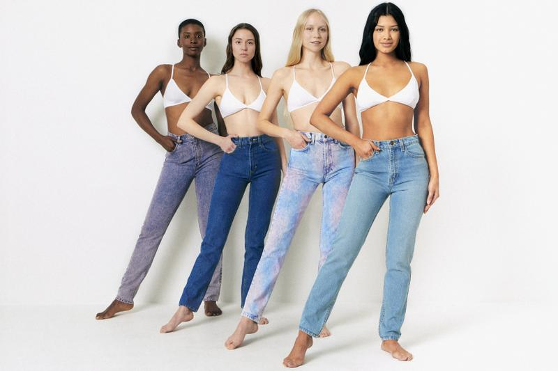 American Apparel Spring Summer 2019 Denim Collection High Waist Jean Rainbow Medium Light Wash