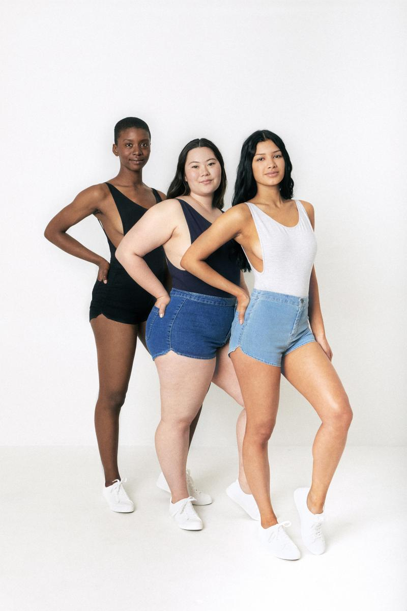 American Apparel Spring Summer 2019 Denim Collection Easy Hot Short Black Light Dark Wash
