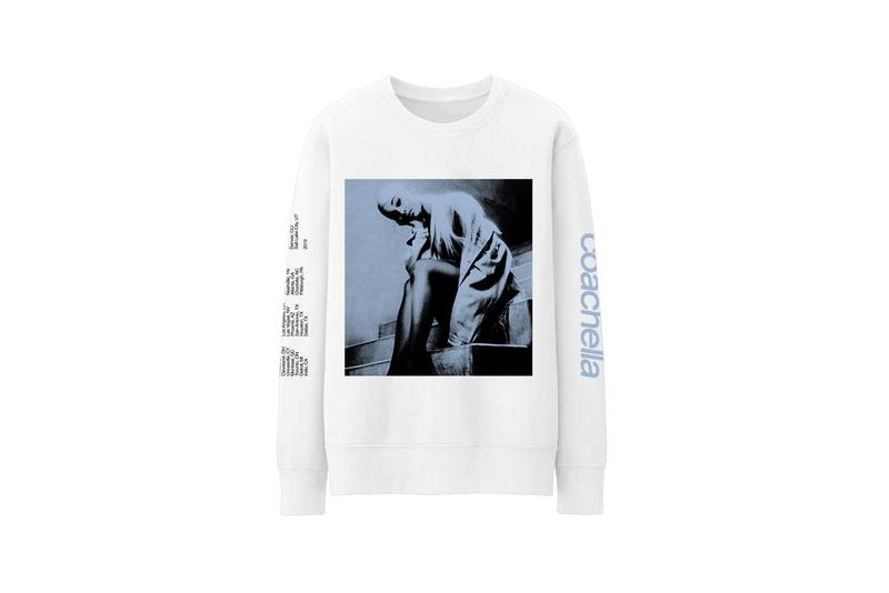 Ariana Grande Black Card Coachella Merch Crewneck Sweater White
