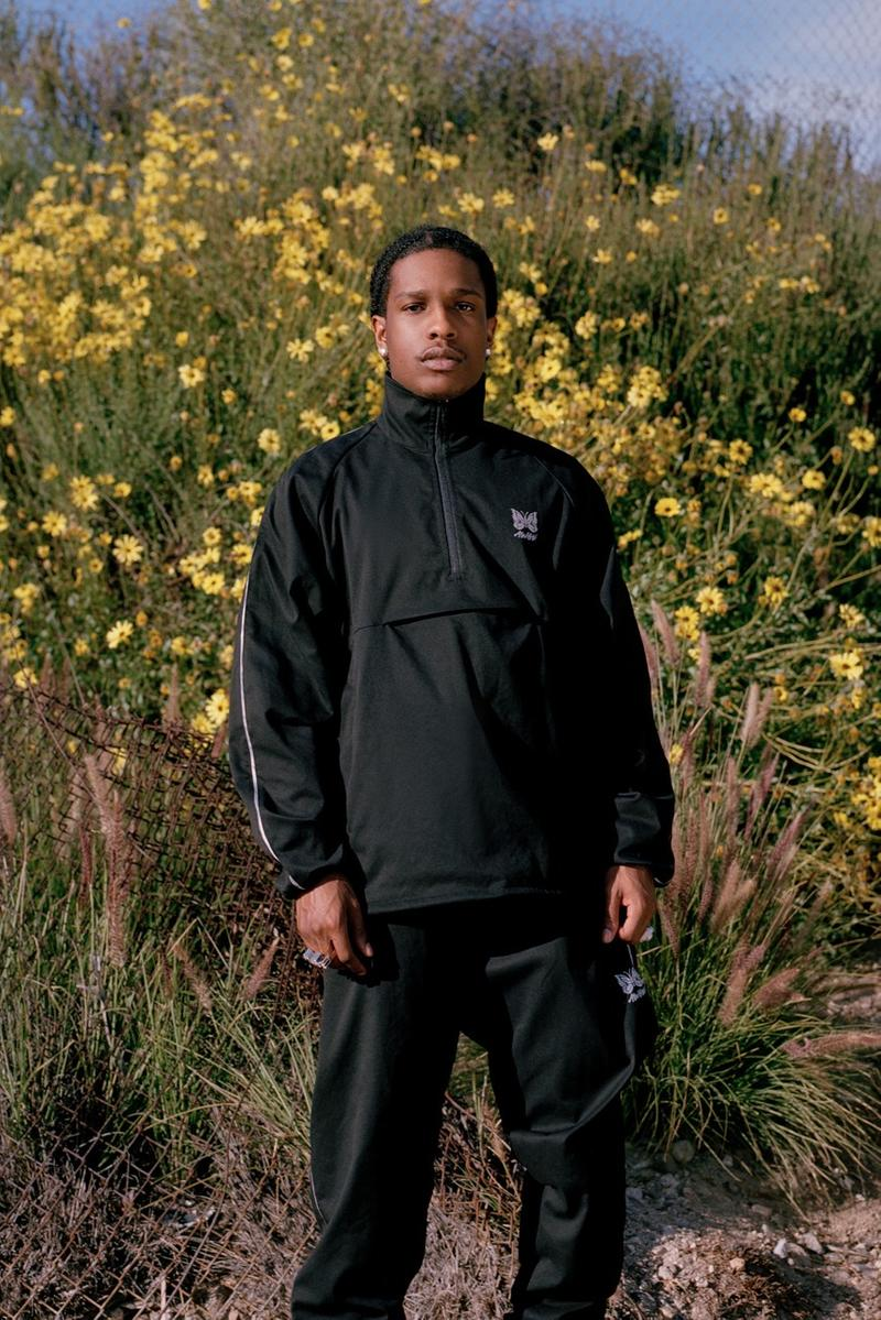 ASAP Rocky AWGE x Needles Spring Summer 2019 Collection Tracksuit Black