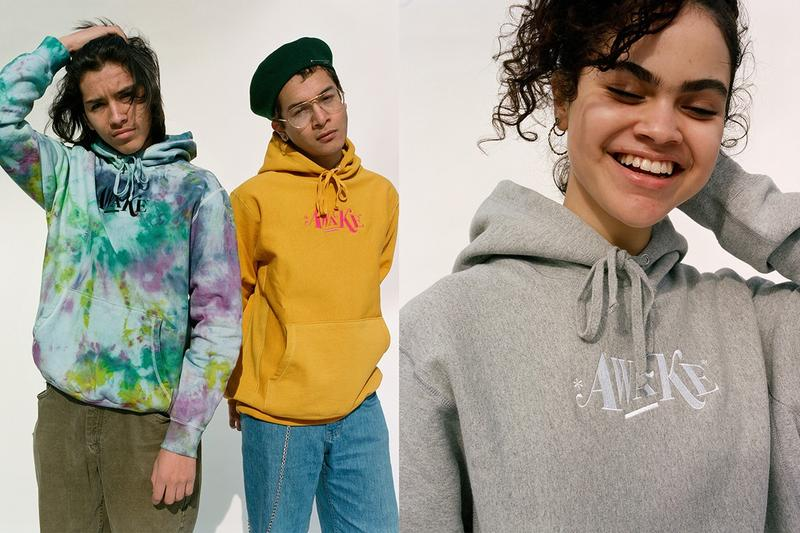 Awake NY Spring 2019 Teaser Capsule Hoodies Tie Dye Black Yellow Green