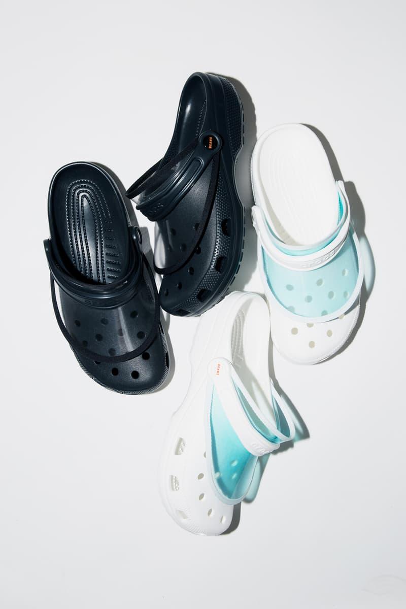 BEAMS x Crocs Capsule Collection Sun Visor Black White