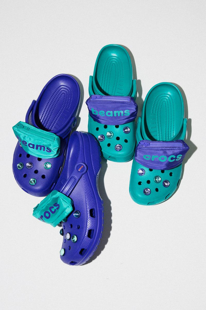BEAMS x Crocs Capsule Collection Classic Pocket Clog Ultraviolet Teal