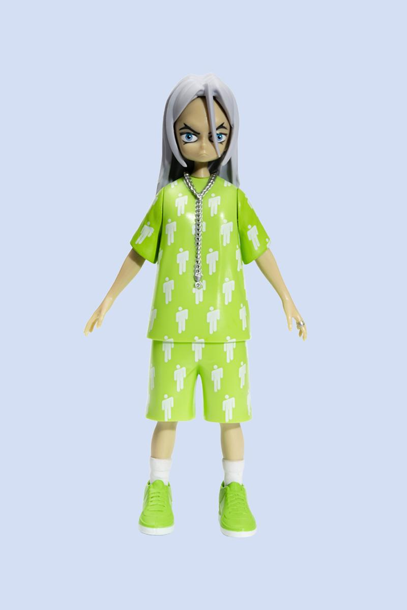 Billie Eilish x Takashi Murakami Vinyl Figure Green Grey Tan