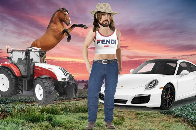 """Billy Ray Cyrus """"Old Town Road"""" Get the Look Lil Nas X Gucci Fendi Wrangler Fashion Single Song"""