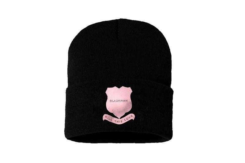 BLACKPINK Kill This Love Merch Drop Beanie Black Pink Logo Album Music Video