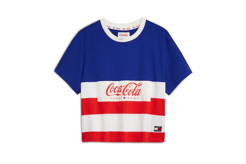 Coca-Cola x Tommy Jeans Capsule Collection T Shirt Blue Red White