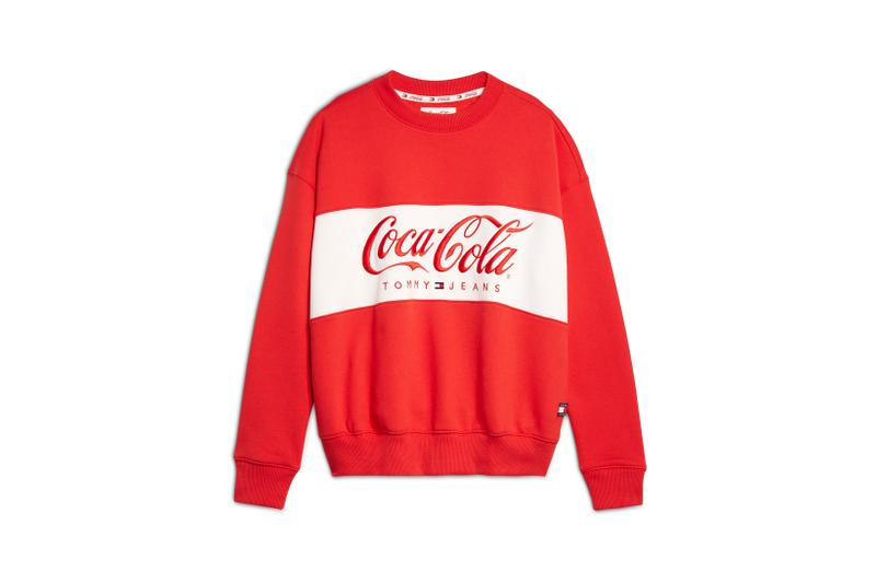Coca-Cola x Tommy Jeans Capsule Collection Crew Sweater Red