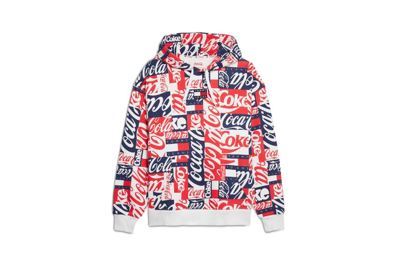 Coca-Cola x Tommy Jeans Capsule Collection Hoodie Red White Blue