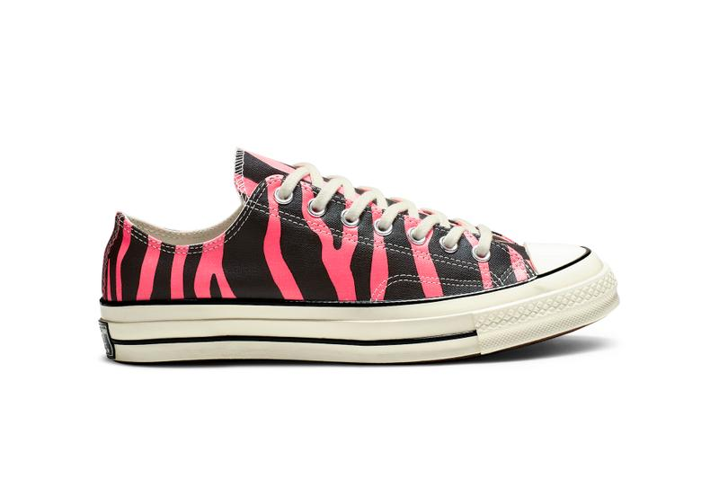 02d9f1a59060 Converse Chuck 70 Jack Purcell Spring Release Color Patterns Drop Leopard  Print Sneaker Zebra Orange Purple