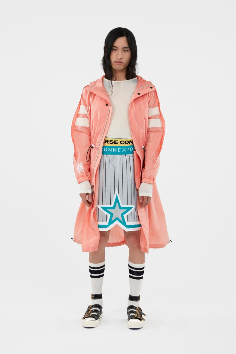 KOCHÉ x Faith Connexion x Feng Chen Wang x Converse Capsule Collection Jacket Pink Shirt White Shorts Grey Blue