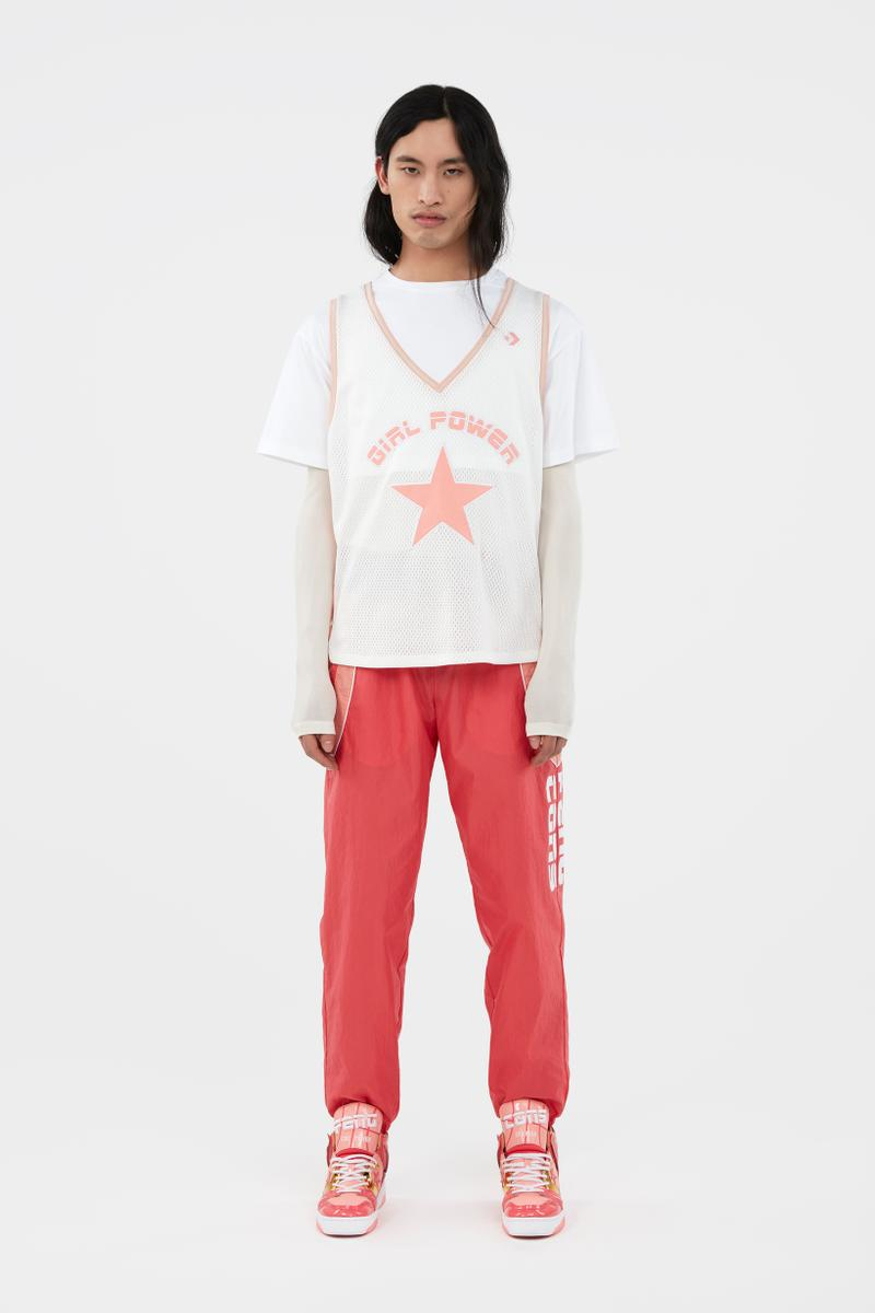 KOCHÉ x Faith Connexion x Feng Chen Wang x Converse Capsule Collection Shirt White Pants Red
