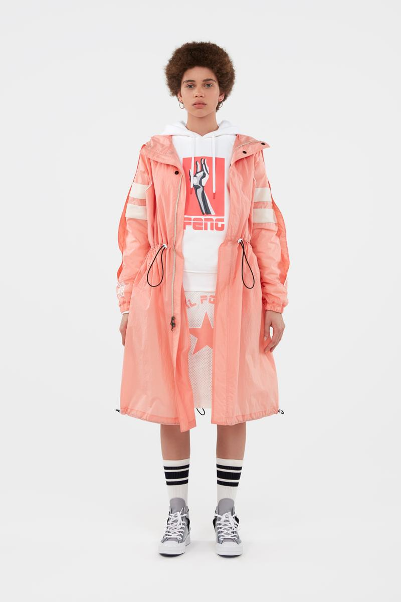 KOCHÉ x Faith Connexion x Feng Chen Wang x Converse Capsule Collection Jacket Pink Hoodie White