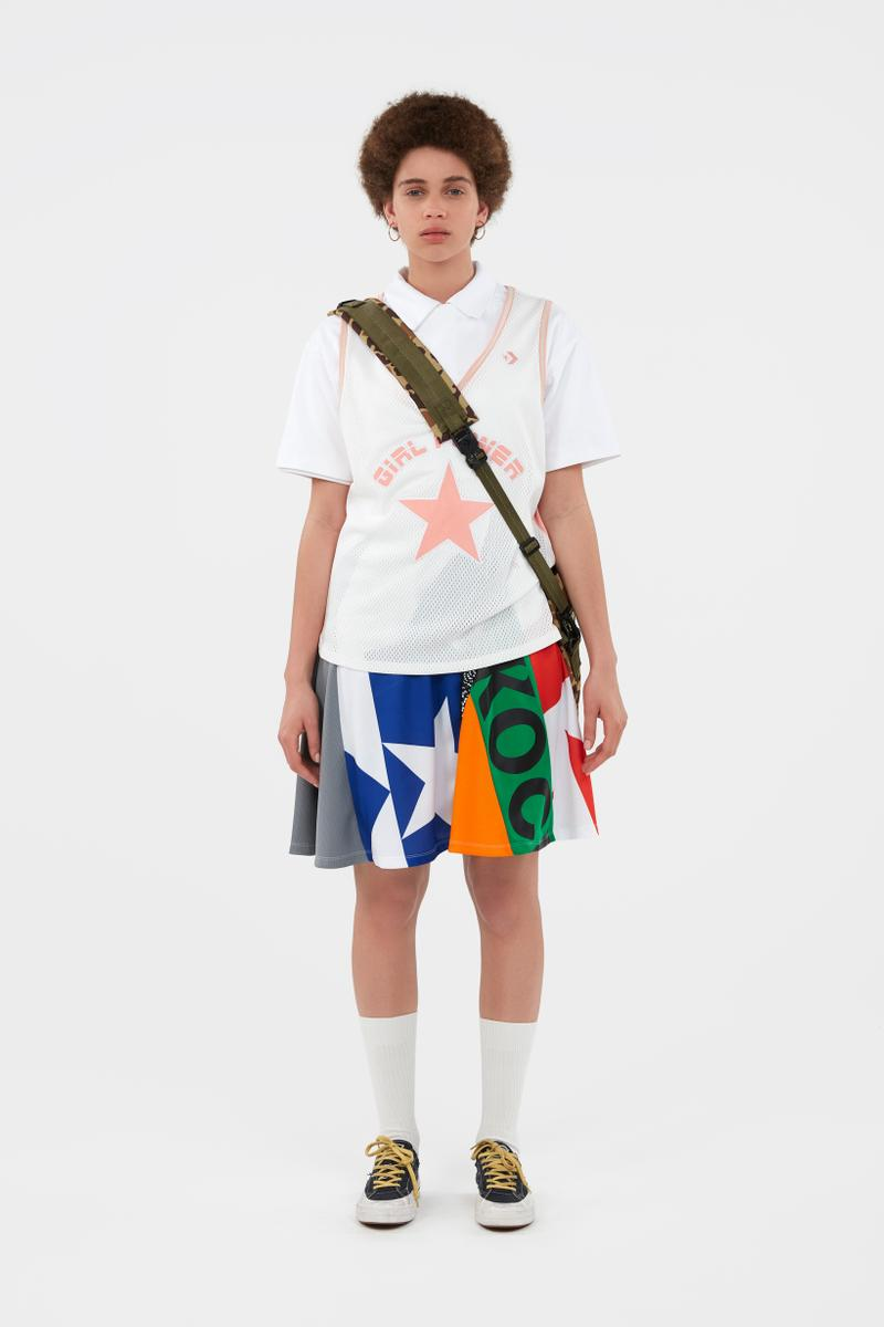 KOCHÉ x Faith Connexion x Feng Chen Wang x Converse Capsule Collection Shirt White Skirt White Green