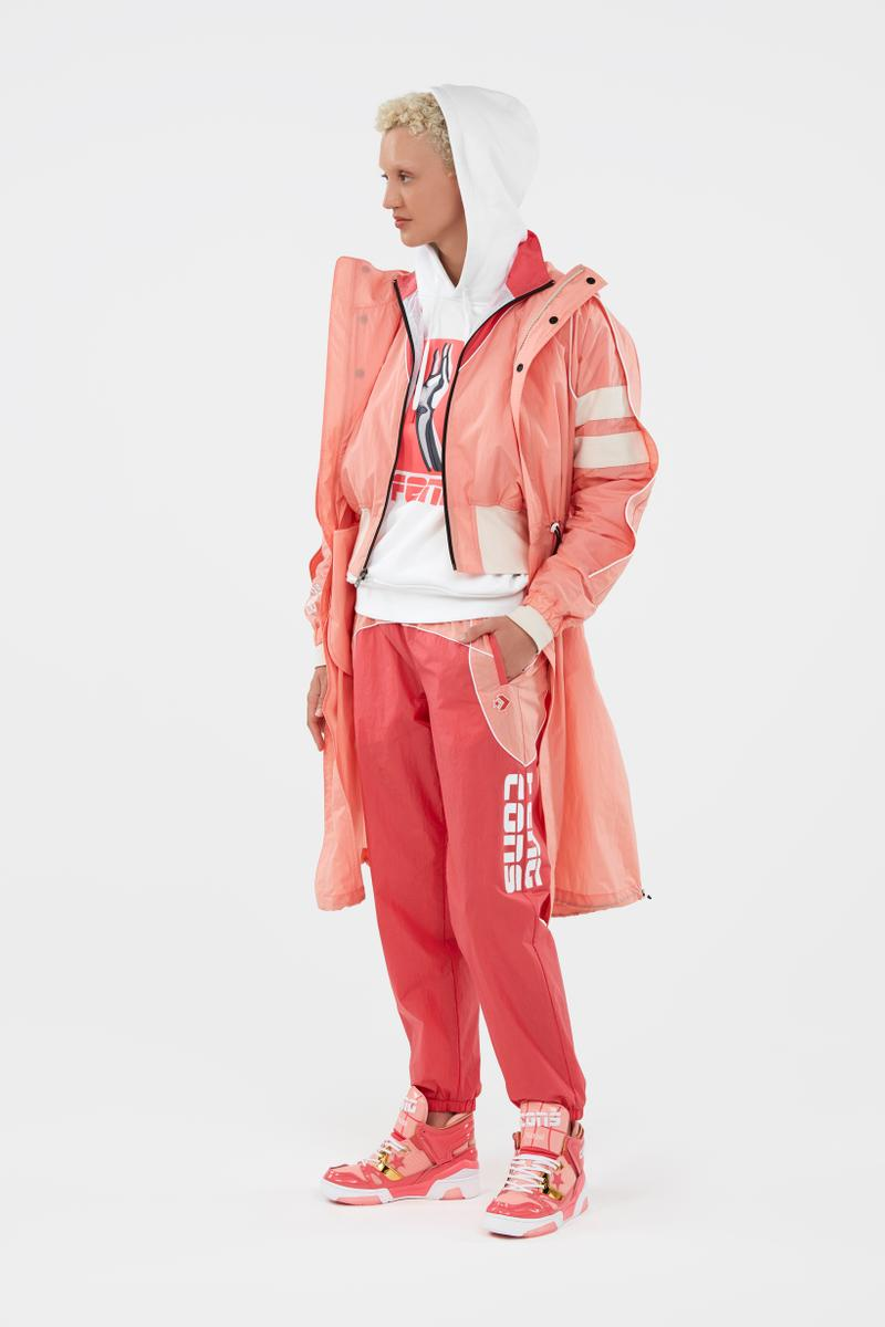 KOCHÉ x Faith Connexion x Feng Chen Wang x Converse Capsule Collection Jacket Pants Pink Hoodie White