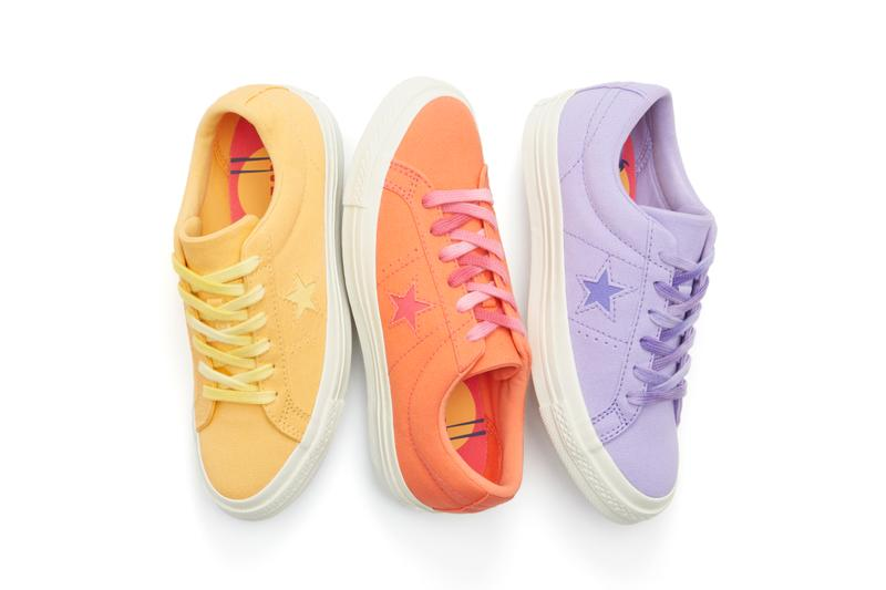 Converse One Star Spring/Summer Colorways Purple Yellow Orange Denim Blue Pastel Sneaker Shoe Footwear