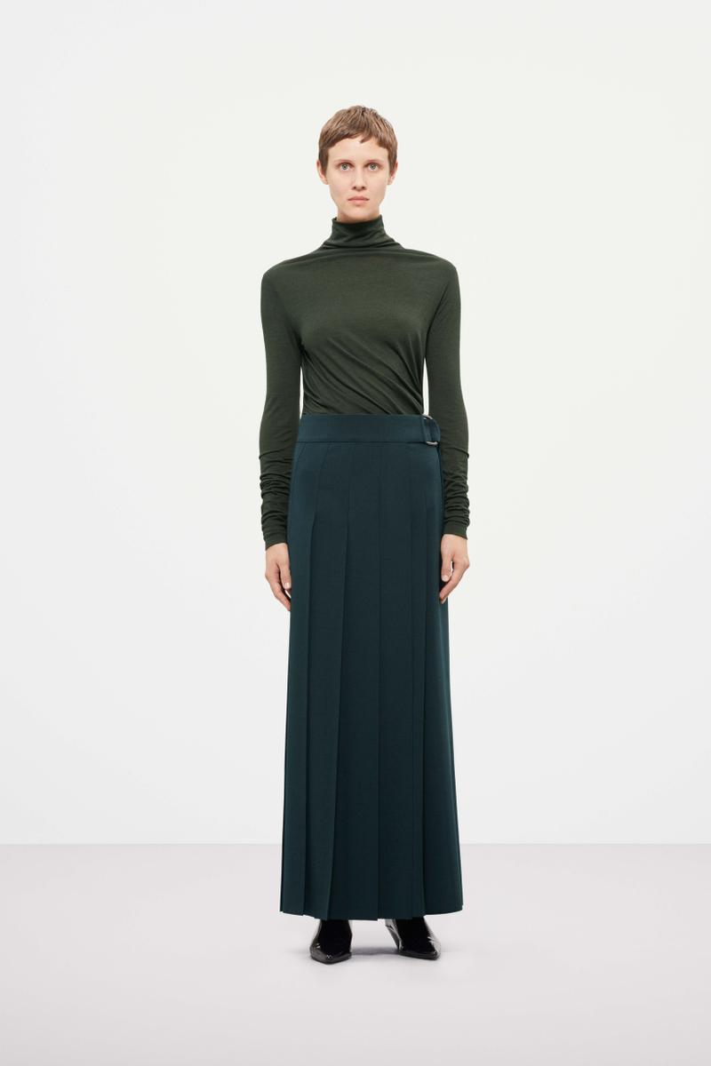 Cos Fall Winter 2019 Lookbook Top Skirt Green