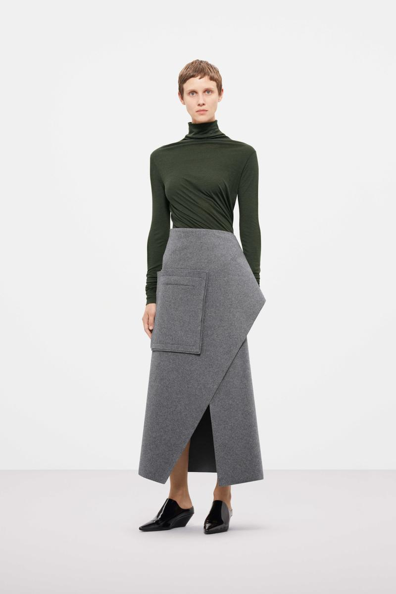 Cos Fall Winter 2019 Lookbook Top Black Skirt Grey