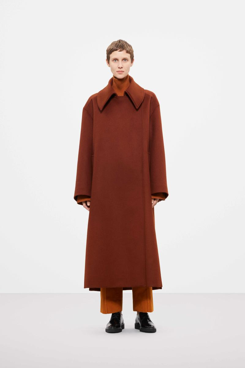 Cos Fall Winter 2019 Lookbook Coat Maroon