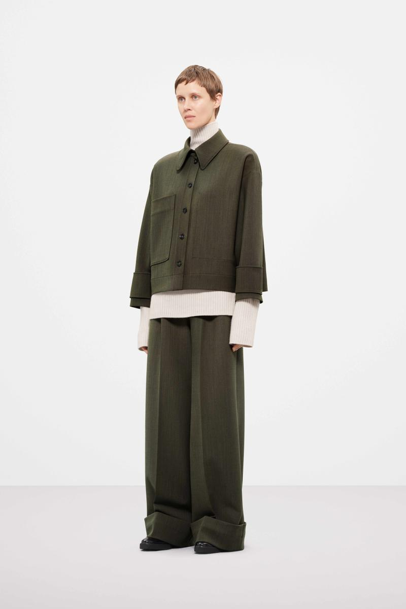 Cos Fall Winter 2019 Lookbook Coat Pants Green