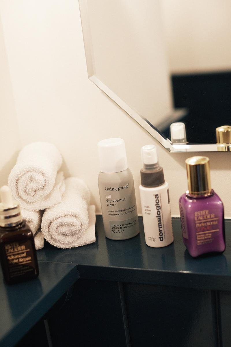 Soho House Amsterdam Skincare Beauty Bathroom Products Estee Lauder Serum