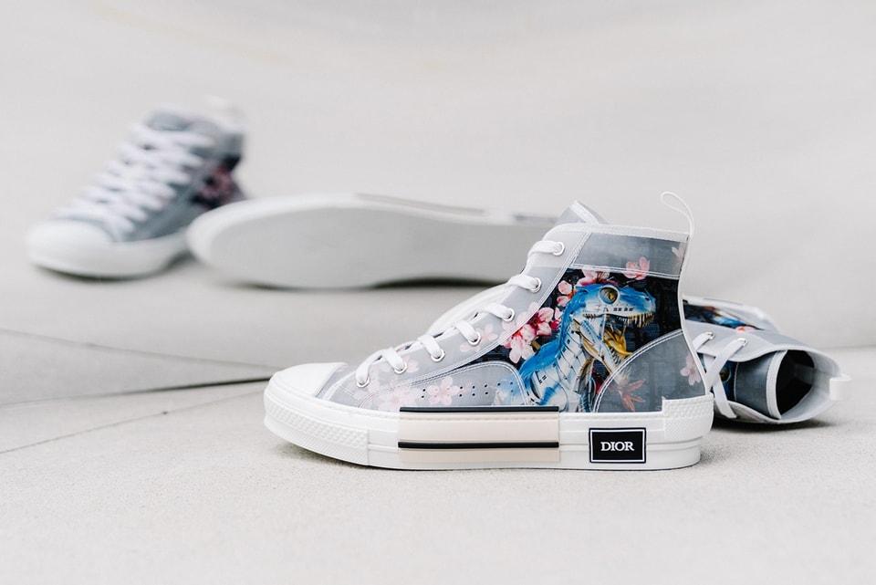 1b7632a2899 A Closer Look at Dior & Hajime Sorayama's Dinosaur High-Top B23 Sneaker