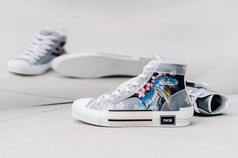 8911111ba4b A Closer Look at Dior & Hajime Sorayama's Dinosaur High-Top B23 Sneaker