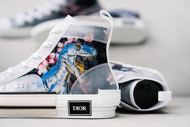 Dior x Hajime Sorayama B23 Dinosaur Sneaker Black White