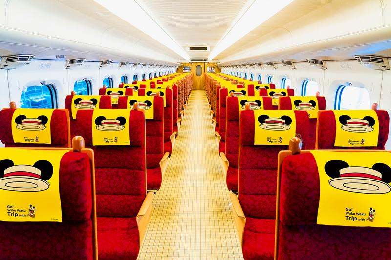 Disney Mickey Mouse Shinkansen Bullet Train Japan Kyushu Fukuoka Kagoshima Waku Waku Trip