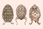 Picture of These Elaborate Easter Eggs Are Covered in Jewels and Luxury Brand Monogram