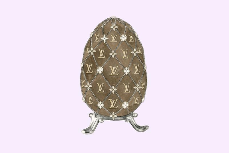 Easter eggs Faberge Egg Luxury Fashion Brand Monogram Logo Louis Vuitton Illustrations Dena Cooper