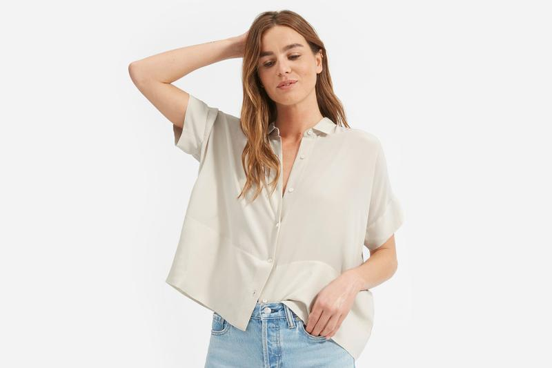 everlane clean silk short sleeve square shirt review editors pick ethical fashion