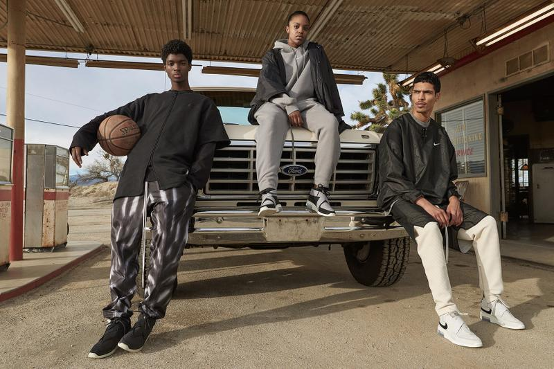 Fear of God x Nike Spring Summer 2019 Collection Sweater Pants Air Raid Light Bone Black Grey