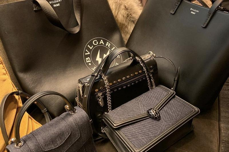 fragment design x Bvlgari Collaboration Bags Black