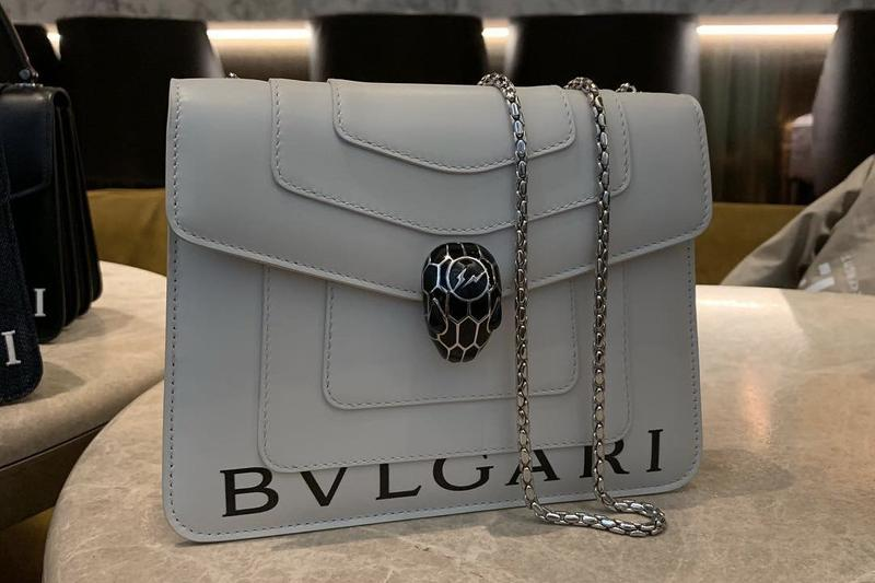 fragment design x Bvlgari Collaboration Bag White Black