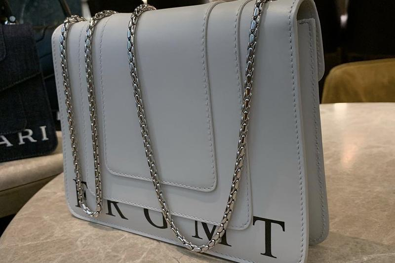 fragment design x Bvlgari Collaboration Bag White