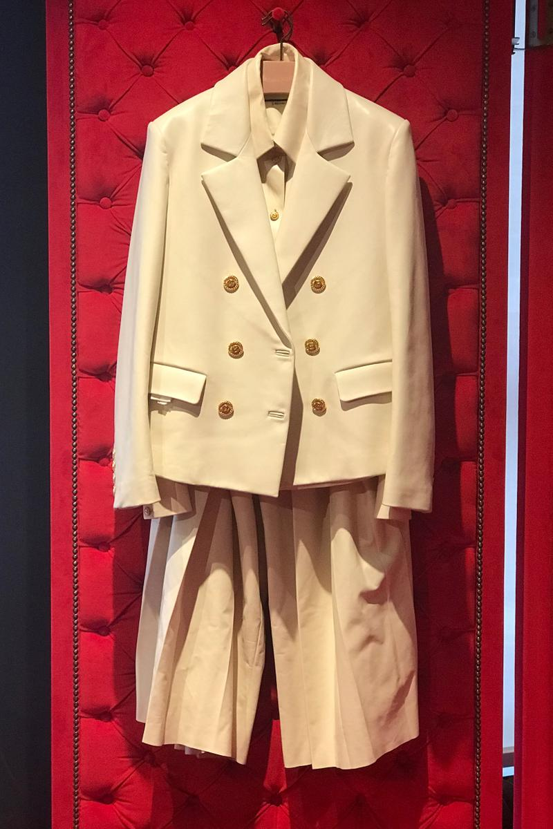 Gucci Fall Winter 2019 Collection Suit Blazer Pants Cream