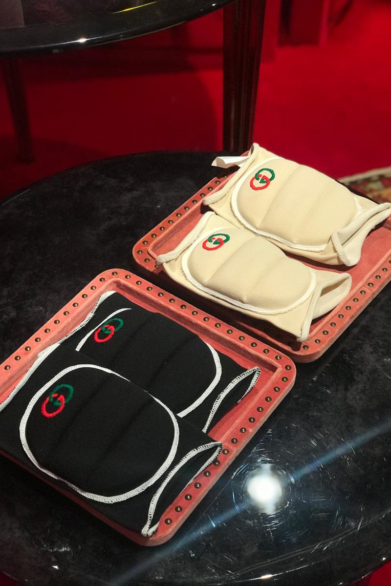 Gucci Fall Winter 2019 Collection Knee Pads Black White