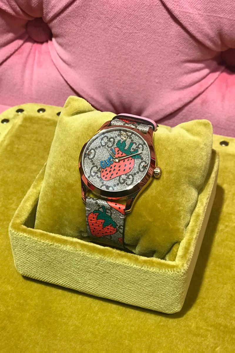 Gucci Fall Winter 2019 Collection GG Watch Red Brown